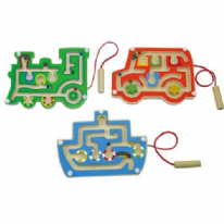 3 Pack Wooden Magnetic Labyrinth